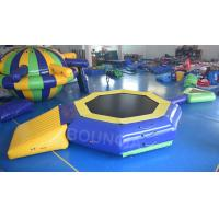 Wholesale 0.9mm PVC Tarpaulin Inflatable Floating Water Trampoline With Beam For Pool from china suppliers