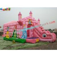 Wholesale Commercial Durable Inflatable Bouncer Slide , Princess Bounce House With Slide Games from china suppliers