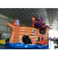 Buy cheap Attractive Pirate Ship Slide Inflatable , Kindergarten Baby Games Blow Up Pirate from wholesalers