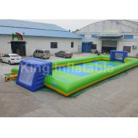 China Commercial Grade Inflatable Sports Games For Children / 12 * 6m Inflatable Soccer Field on sale