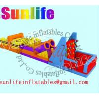 Wholesale Amusement Park Large Inflatable Obstacle Course Bouncy Castles for adults and children from china suppliers