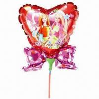 Wholesale Cartoon Advertising Balloon with Bowknot and Cup Stick, Made of Nylon, Aluminum and PE from china suppliers