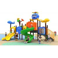 CE / ISO9001 Commercial Plastic Play Equipment Baby Outdoor Slide For Kids