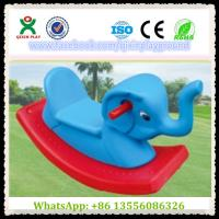 Wholesale Fun Plastic Elephant Shape Build-Up Rocking Horse Games Horse for Park Items QX-155F from china suppliers