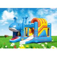 Wholesale Kids Beautiful Dolphin 0.55mm PVC Inflatable Jumping Bouncy Castle with CE Blower from china suppliers