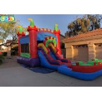 Wholesale Indoor Inflatable Bouncers With Slide Inflatable Bouncy Castle Logo Support from china suppliers
