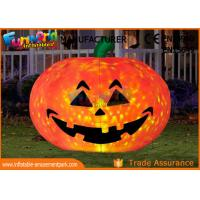 China Commercial Grade Inflatable Bounce Houses Halloween Castle Pumpkin Decoration on sale