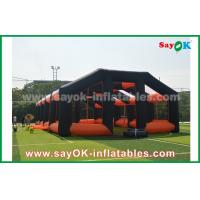 Wholesale 20m Orange And Black Oxford Cloth Inflatable Air Tent House For Outdoor Event from china suppliers