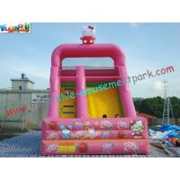 Wholesale Cute Cat Commercial Inflatable Slide , Childrens Small Dry Slide Slip Inflatable from china suppliers