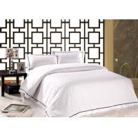 Wholesale Satin Stirpe 100% White Cotton 250TC Dorm Room Comforters Hygroscopic And Hygienic from china suppliers