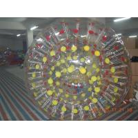 Wholesale Commercial 0.9mm PVC Color Points Water Walking Inflatable Zorb Ball YHZB 007 from china suppliers