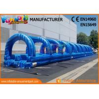 Wholesale Blue 0.55mm Pvc Tarpaulin Commercial Inflatable Slide / Blow Up Slip N Slide For Adult And Kids from china suppliers