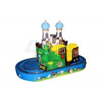 Wholesale Round Castle Kiddie Ride Train Game Machine For Amusement Park 300W from china suppliers