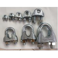 Wholesale DIN 741 Wire Rope Clamp , Wire Rope Clips With Malleable Iron Material from china suppliers