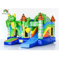 China Kids Inflatable Bouncer Combo /  Green Inflatable Dragon Jumping Castle on sale
