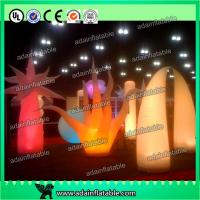 Wholesale Party Decoration Inflatable Lighting Cone Full Dot Printing Wave Shape Design from china suppliers