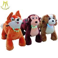 Hansel coin operated motorized plush animals electric riding toys electric