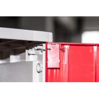 Quality Corrosion Proof ABS Plastic Lockers Red Door 5 Tier Lockers With Clover Keyless for sale