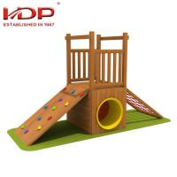 Wholesale Small Wooden Playground Equipment Childrens Wooden Swing And Slide Sets from china suppliers