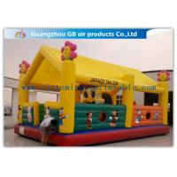 China Sunflower Waterproof 	Inflatable Amusement Park 0.55mm PVC Tarpaulin For Kids Playing on sale