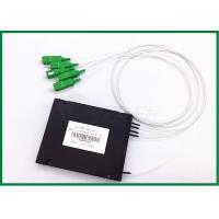 Quality FTTH GEPON EPON plc optical splitter 1x4 Optical Coupler SC / APC for sale
