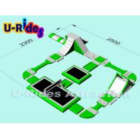 Buy cheap Green Color Inflatable Floating Water Park With Volleyball Court , Water from wholesalers