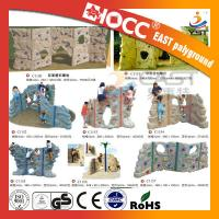 Quality Outdoor Rock Plastic Climbing Wall Steel Pipe Structure PVC Coated Deck for sale