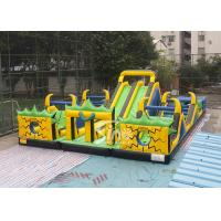 China Adults N Kids Outdoor Giant Inflatable Playground With Big Slides For Sale on sale