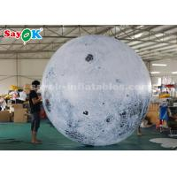 China 3m Giant Advertising Inflatable Lighting Decoration Moon Globe Ball on sale