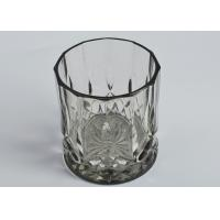 Wholesale 12OZ Wax Luxury Black Glass Candle Jar Glass Tealight Candle Holders from china suppliers