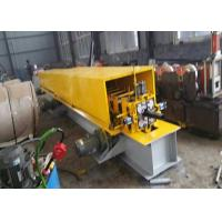 Wholesale Steel Material Downspout Roll Forming Machine , Gutter Making MachinePlC Controller from china suppliers