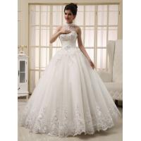 Wholesale White Heart Shaped Ladies Halter Neck Wedding Dresses Princess Wedding Gowns from china suppliers