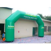 Wholesale Green Custom Inflatable Arch / Inflatable Start Finish Arch Wind Resistance from china suppliers