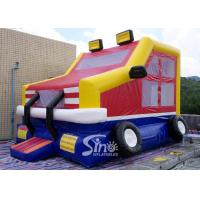 China Custom made outdoor kids truck inflatable bounce house made of lead free pvc tarpaulin from China inflatable factory on sale