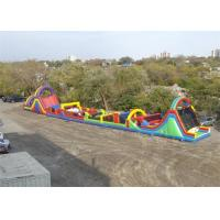 Wholesale Magnificant Children / Adult Bouncy Obstacle Course Inflatables For Rental from china suppliers