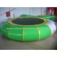 China Indoor Inflatable Water Trampoline Water Toy , Inflatable Aqua Bouncer With Pad on sale