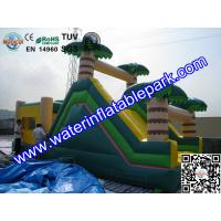 Buy cheap Inflatable Bouncer Slide , Commercial Grade Bounce Houses Coconut Trees Tropical from wholesalers
