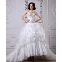Wholesale Thick Heart Shaped Strapless Wedding Gowns winter ladies puffy wedding dresses from china suppliers