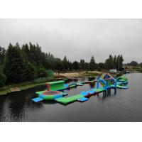Buy cheap Durable 0.9mm PVC Tarpaulin Inflatable Lake Water Park Green , Blue And Red from wholesalers