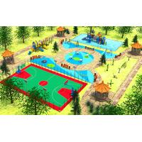 Wholesale CREEZ Custom Outdoor Playsets City Park Play Elements Combined With Multiple Swing from china suppliers