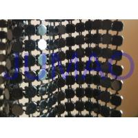 Wholesale Black Interior Metal Fabric Cloth , ​Lightweight Metal Mesh Fabric Curtain from china suppliers