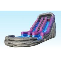 Quality 19Ft Purple Inflatable Water Slides Summer Splash With Logo Printing for sale