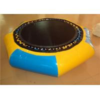 China 0.9mm PVC inflatable water trampoline, water bouncer toys, Square trampolines on sale