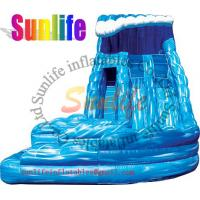 Wholesale inflatable exciting water pool giant slide from china suppliers
