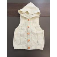 China Sleeveless Cardigan Kids Hooded Sweater , Cotton Kids White Sweater Vest on sale