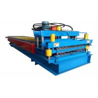 Wholesale High Power Color Steel Roll Forming Machine Metal Roofing Machine With Hydraulic Cutting Device from china suppliers