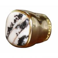 Buy cheap Metal Zamac Perfume Bottle Caps Cover Unique Design Perfume Lid With Stone from wholesalers