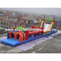 Quality Children Park Amusement Games, Inflatable Pretty Clolred Obstacle Challenges for sale