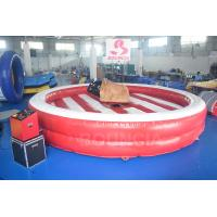 China Inflatable Bull Riding Machine / Inflatable Mechanical Bull For Amusement Park on sale