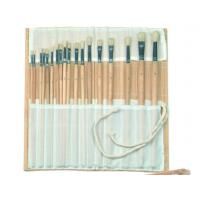 Wholesale Natural Color Bamboo Brush Holder Useful Tools , Artist Brush Roll Case 41.5 * 56cm from china suppliers